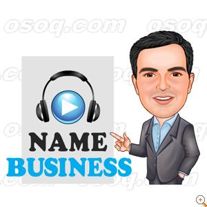 radio logo design radio announcer order 903059