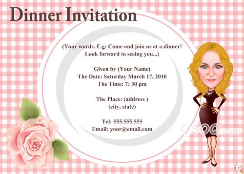 dinner invitation cards